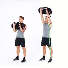sandbag exercise shoulder lift
