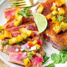 Seared Ahi Tuna with Peach Salsa ...