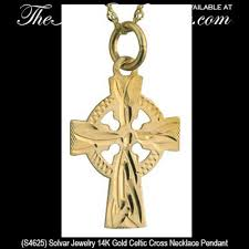 gold celtic cross necklace tiny the