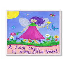 The Kids Room By Stupell A Fairy Lives In Every Girl S Heart Rectangle Wall Plaque 11 X 0 5 X 15 Proudly Made In Usa