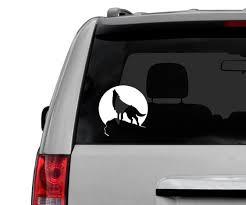 Wolf Car Window Decal Laptop Sticker Etsy
