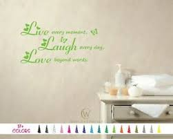 Live Every Moment Laugh Every Love Beyond Word Vinyl Decal Wall Quote Sticker Ebay