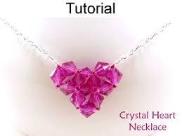 beaded crystal heart pendant chain