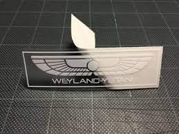 Weyland Yutani 3 5 White On Satin Clear Vinyl Decal Etsy