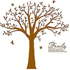 family like branches on a tree lettering tree wall sticker for