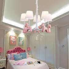 Horse Kids Bedroom Chandelier Resin Metal 3 5 Lights Modern Stylish Hanging Light In Blue Pink Beautifulhalo Com