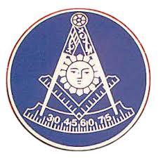 Freemasons Car Emblem Past Master Symbol With Dark Blue Background Masonic Car Bumper Decal Back Adhesive Sticker Mason Zone