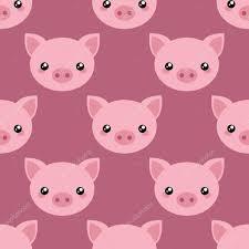pig face wallpaper stock vector