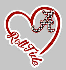 5 Heart Car Decal Alabama College Pinned By Pin4etsy Com Roll Tide Football Alabama Football Roll Tide Alabama Crimson Tide Football