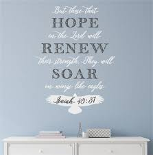 But Those That Hope In The Lord Will Renew Vinyl Decal Wall Stickers Letters Bible Verse