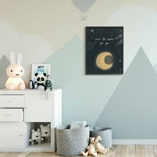 Shop The Kids Room By Stupell Over The Moon Kids Nursery Textured Drawing Design Framed Wall Art Proudly Made In Usa Overstock 29738938