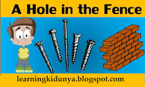 A Hole In The Fence Story Learningkidunya