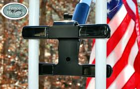 All New Flag Pole Mount By Fence Hangers With Picketgrip Technology Proudly Display Your Flags Anywhere On A Deck Or Ornam Electric Fence Fence Door Planter