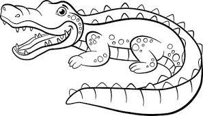 Kleurplaten Dieren Kleine Schattige Alligator Clipart Afbeelding