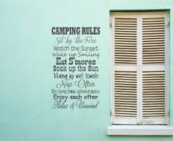 Camping Rules Smores Sunset Fire Towle From Willowcreeksigns On
