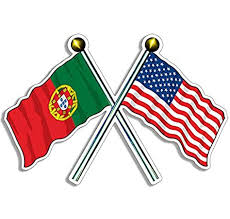 Amazon Com Jr Studio 4x4 Inch Crossed Poles Portugal And Usa Flags Sticker American Portuguese Us Vinyl Decal Sticker Car Waterproof Car Decal Bumper Sticker Kitchen Dining
