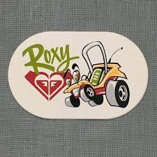 Vintage Roxy Quiksilver Hawaii Surfing Sticker Decal Etsy