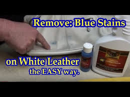 remove blue stains from white leather