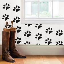 Wall Pops Black Paw Prints Wall Decal Dwpk2903 The Home Depot