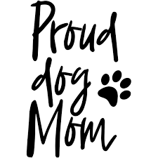 Proud Dog Mom Car Decal 904 Custom