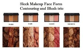 sleek makeup face form contouring and