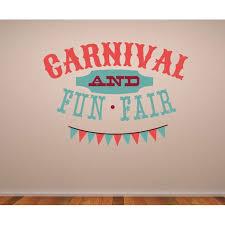 Carnival And Fun Fair Wall Decal Vinyl Decal Car Decal Idcolor003 25 Inches Walmart Com Walmart Com