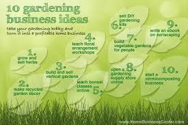 gardening business ideas you can start