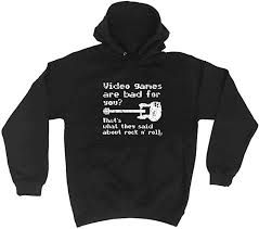 funny novelty hoodie video games are bad for you hoody jumper