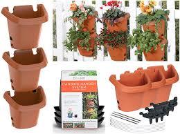 Amazon Com Bloem Terra Cotta Hanging Garden Planter System 3 Pack 482121 1001 Home Speakers Garden Outdoor