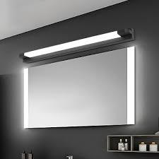 black straight bar mirror light modern