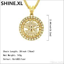 pendant necklace can rotate iced out