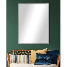 beveled frameless accent mirror