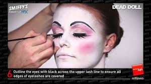 dead doll face painting make up