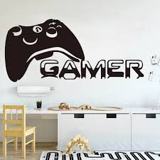 Large Gamer Controller Wall Sticker Boy Room Playroom Gamer Players Gaming Time Xbox 360 Ps Game Controller Wall Decal Bedroom Wall Stickers Aliexpress