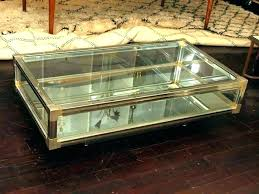 glass display case coffee table