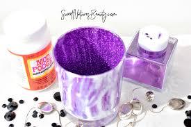 glam earthy diy makeup brush holders