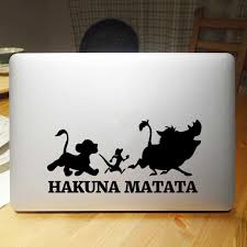 Lion King Quote Hakuna Matata Laptop Sticker For Macbook Decal Pro Air Retina 11 12 13 14 15 Inch Hp Mac Surface Book Skin Decal Laptop Skins Aliexpress