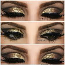 black and gold eye makeup ideas cat