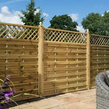 Rowlinson 6 X 4 Horizontal Weave Fence Panel With Trellis Top