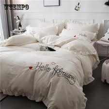 white ruffle bedding at affordable