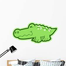 Amazon Com Wallmonkeys Cute Little Baby Alligator Wall Decal Peel And Stick Graphic 48 In W X 34 In H Wm316746 Home Kitchen