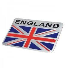 Aluminum England Uk Flag Shield Emblem Badge Car Sticker Decal Universal For Truck Auto