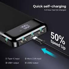 Floveme Power Bank 10000 MAh Pin Dự Phòng Sạc Bộ Sạc Nhanh Dự Phòng  Powerbank 10000 MAh 2 Cổng USB Sạc Cho iPhone Xiaomi mi|