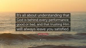 "lauryn williams quote ""it s all about understanding that god is"