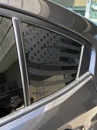 Distressed Quarter Window Flag Decal 2015 2018 Subaru Sti Wrx Elevated Auto Styling
