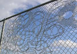 If It S Hip It S Here Archives Turning Chain Link Fencing Into Art Lace Fences By Demakersvan