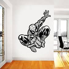 Amazon Com Wall Decals Superheroes Spiderman Wall Decal Spiderman Sticker Spiderman For Boys Wall Decal For Kids Spiderman Custom Name Avengers Sticker Spidernam Car Kau 298 Handmade