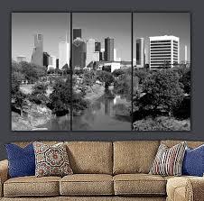 Houston Skyline Canvas Wall Art Holy Cow Canvas