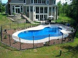 Right Here We Have A Look At 27 Creative Pool Fencing Concepts For Domestic House Inground Pool Landscaping Backyard Pool Landscaping Small Inground Pool