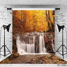 الخريف الغابات شلال الأصفر صورة خلفية صور استوديو الفينيل خلفيات